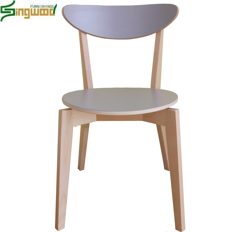 Modern wooden fast food dining chair made in china