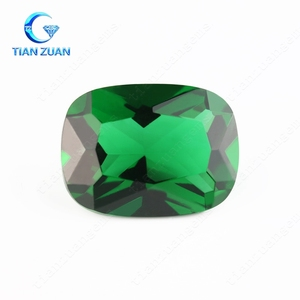 Green blue purple rectangle cut corner shape glass gemstone for jewelry making