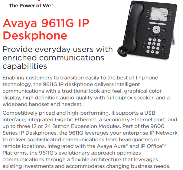 Avaya 9611G IP phone, View 9611G, Avaya Product Details from Shanghai  Harmuber Technology Development Co , Ltd  on Alibaba com