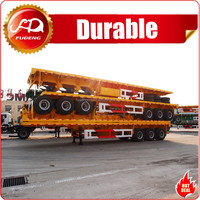 China Fudeng Tri-axle 40 tons-60 tons Flatbed Utility Semi Trailer Flat bed Trailers