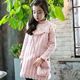 PHB13020 pink blue color Korean fashion girls winter dress 2018