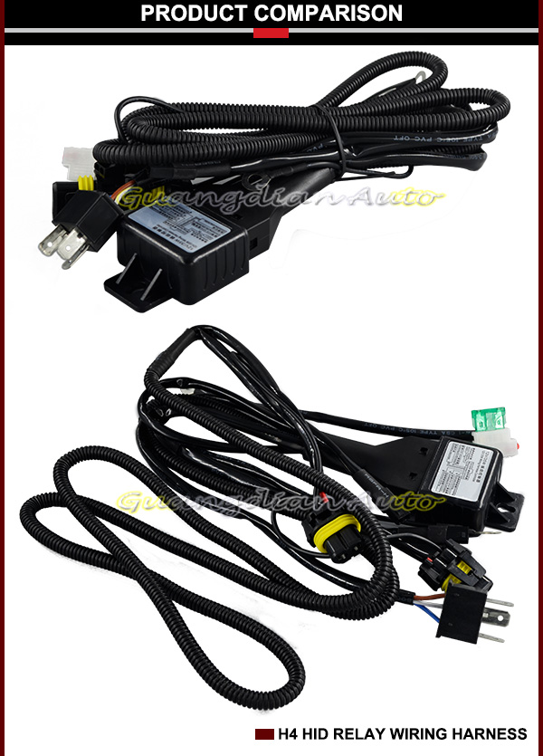 12v 35w Hid Xenon Wire Harness Accessories Bi-xenon Lamp H4 Relays H Hid Relay Wiring on h4 wiring adapters, h4 wiring lamp, h4 wiring with diode, 12vdc relay wiring, h4 bulb wiring, h4 led wiring,