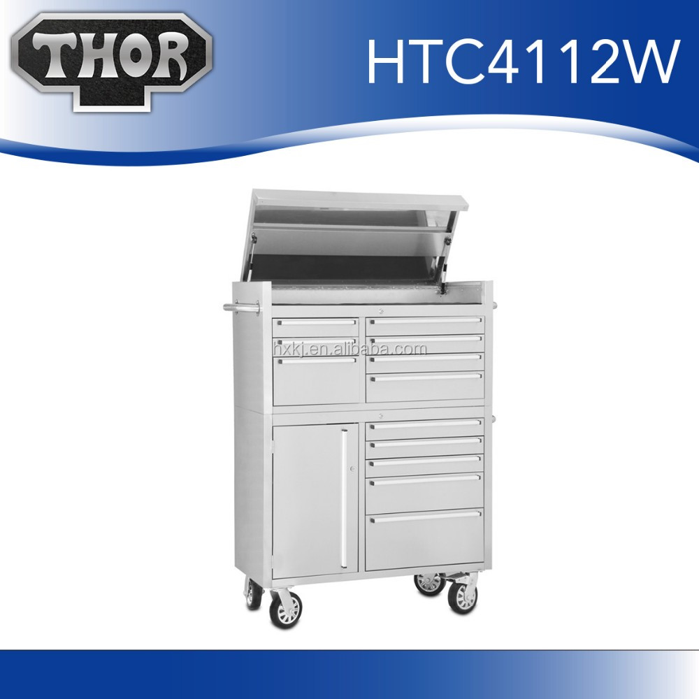 Professional Oem Rolling Tool Chest/Slip lid with led light tool cabinet