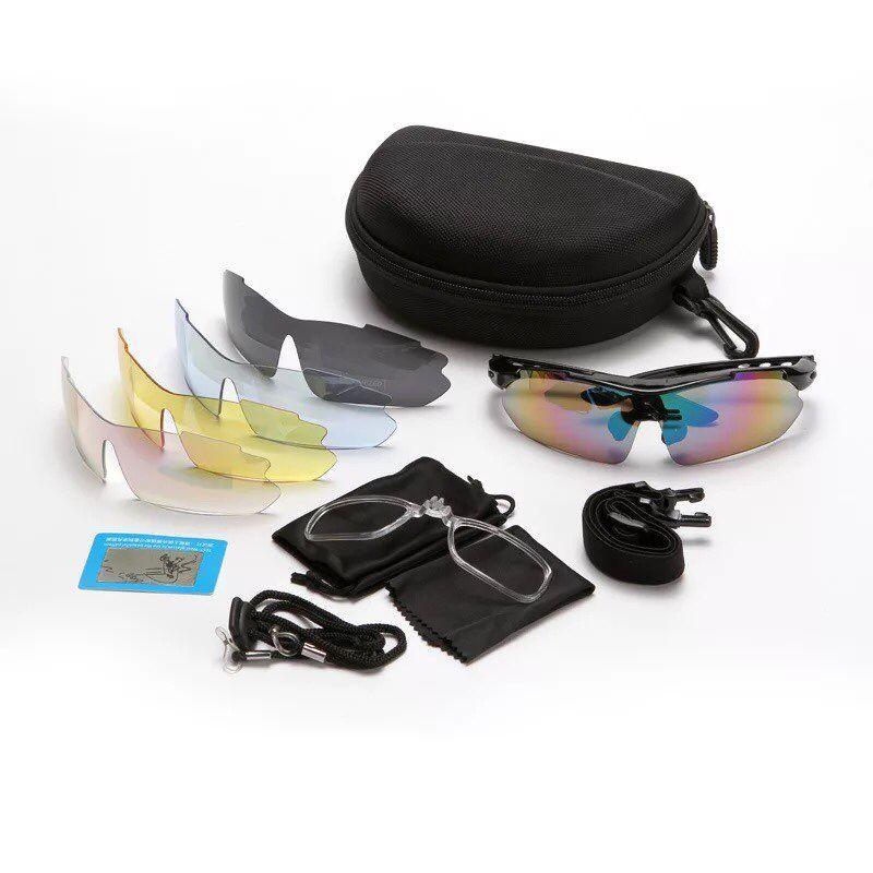 Cycling Bike Polarized Sports Sunglasses Goggle UV400 5 Lenses TR-90 Frame