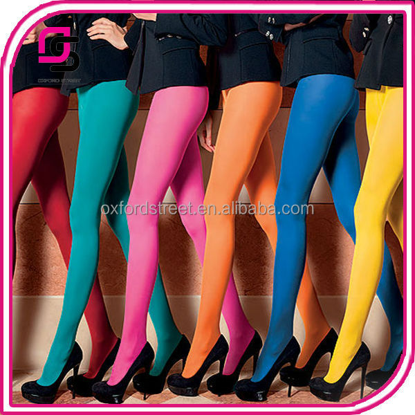 Hot Selling Women Tights 60D/120D Opaque Colorful Tights with Foot