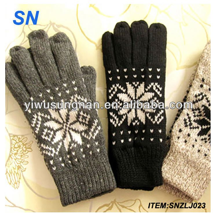 wholesale stock mittens hot fashion knitted handmade cheap wool winter thick custom knitted acrylic cute knitted animal mit
