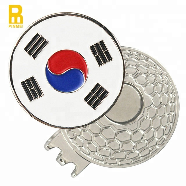 Pin Mei magnetic golf hat clip ball marker cap clip
