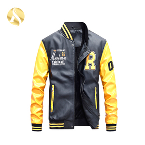 Variety Attractive Colors Casual Male Leather Jacket