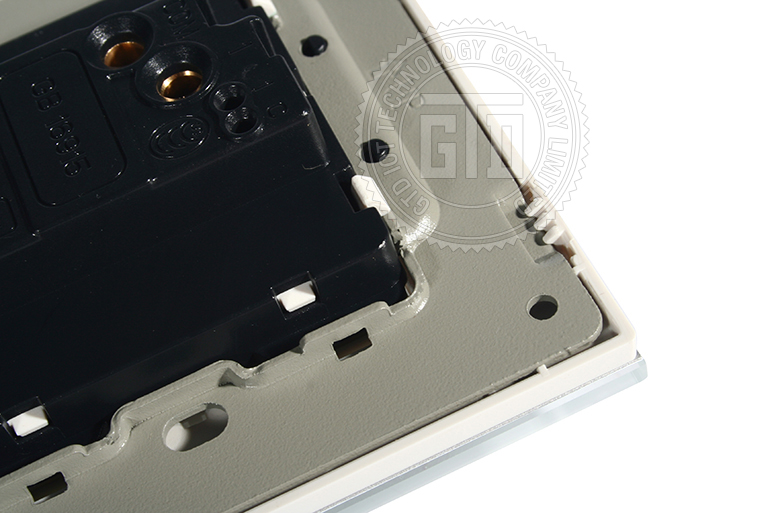 White Tempered Glass Panel For 1 Gang 2 Way Rock Switch