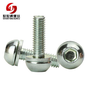 Zinc Finish Round Head Socket Table Leg Screws For Office Chair