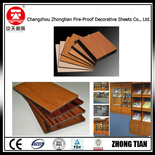 Bookstore shelves hpl natural compact laminate board fireproof board