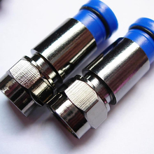 High performance Black Nickel connector f compressed for Cable RG6