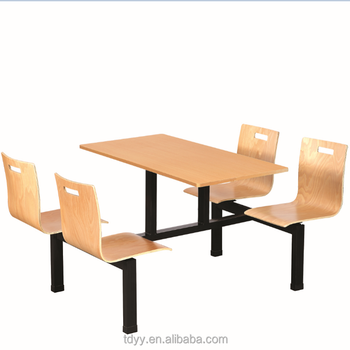 TDC 914 916 Fast Food Units Furniture Dining Table And Chair Series