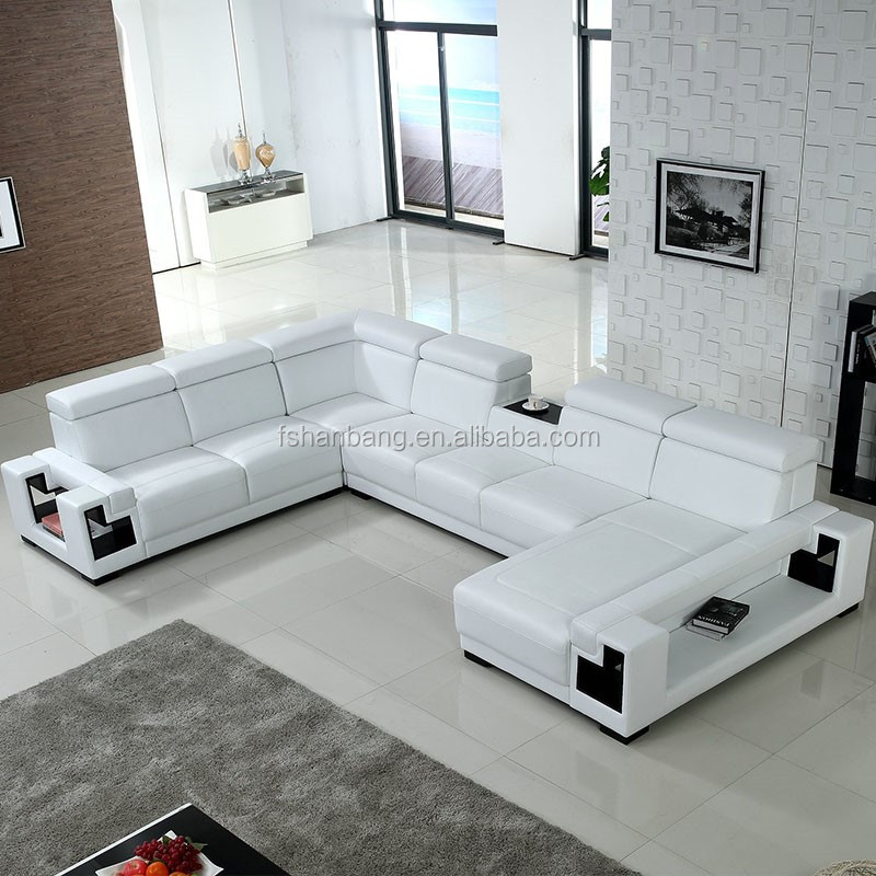 Cheap Living Room Furniture Black And White Leather Sectional Sofa - Buy  Leather Sofa Sectional Sofa,Living Room Furniture,Cheap Living Room  Furniture ...