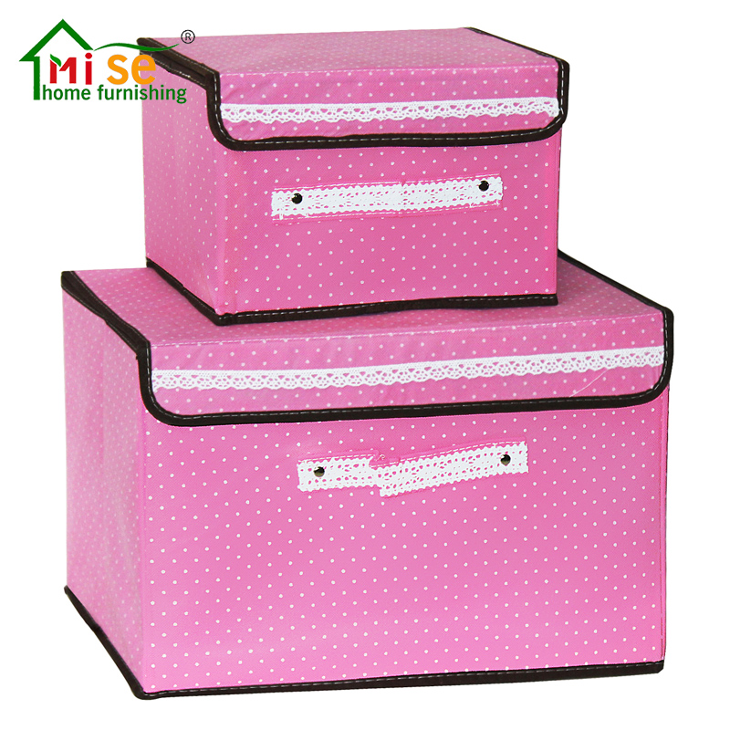 High Quality Collapsible Medium Storage Box Custom Non Woven Fabric Square Home Shoe Toy Foldable Storage Box