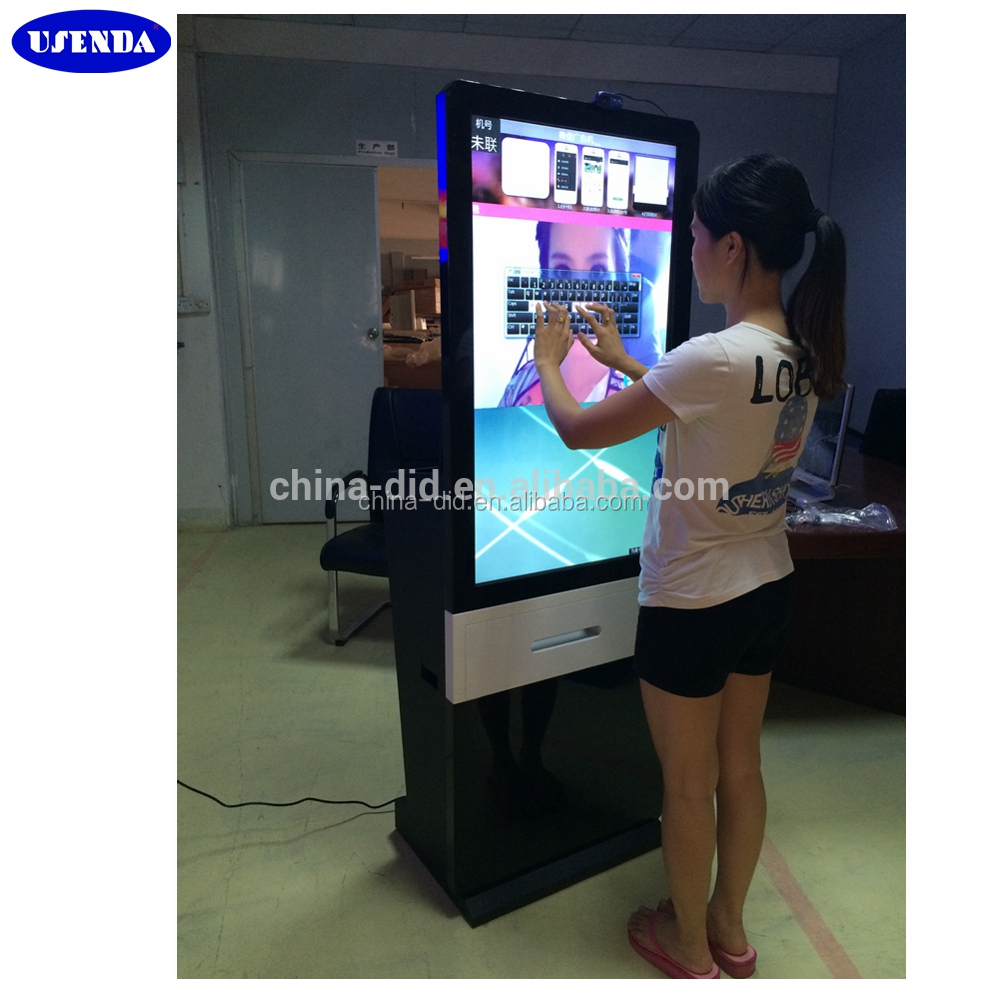 46inch touch screen kiosk photobooth / photo booth machine with printer camera for events vending business wedding
