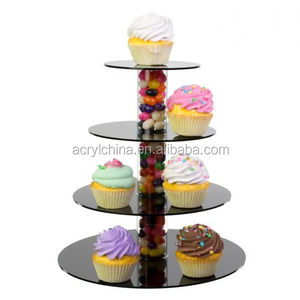 High quality custom acrylic cupcake stand with fill columns