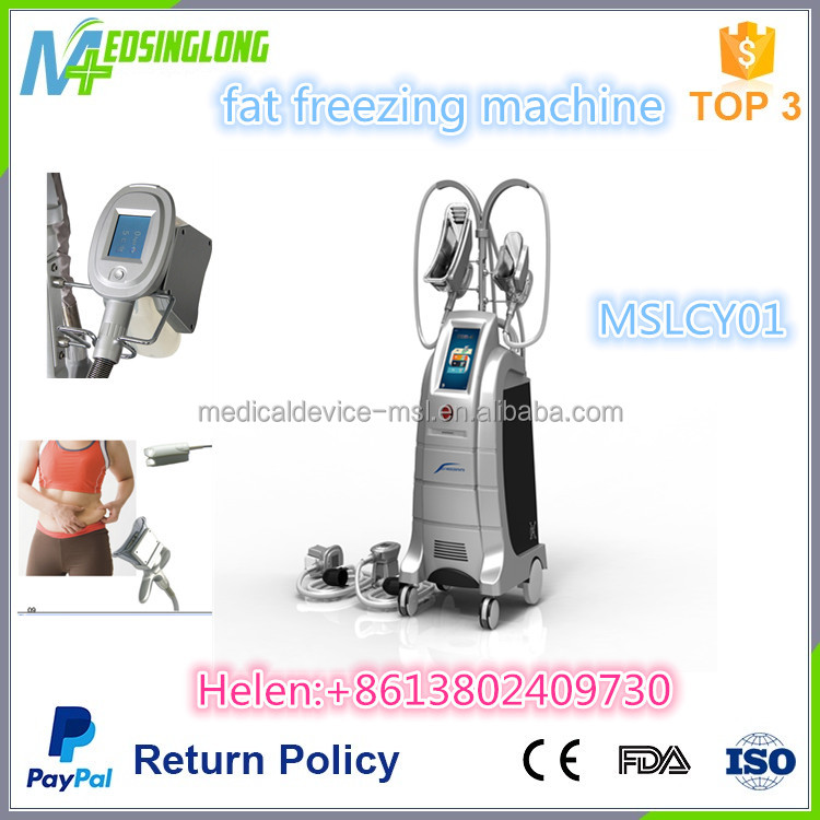 2017 Newest 4 Cryolipolysis handpieces slimming machine/fat freezing machine for beauty MSLCY01