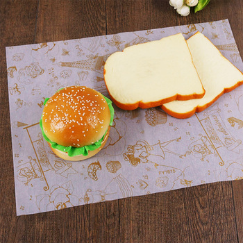 Custom printed food grade greaseproof/kraft wrapping paper