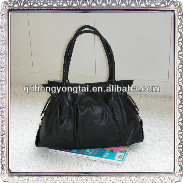 wholesale black genuine leather handbags in China