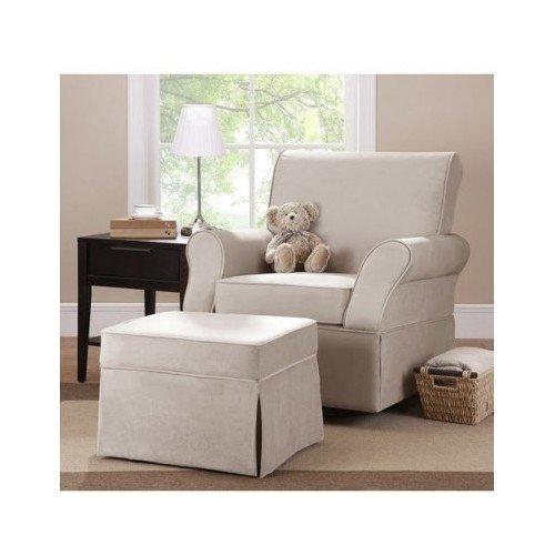 Kelcie Swivel Chair Glider & Ottoman, Beige