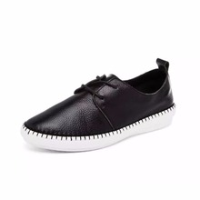 2016 Hot Sale Women Fancy Lace-Up Leather Loafer Shoes