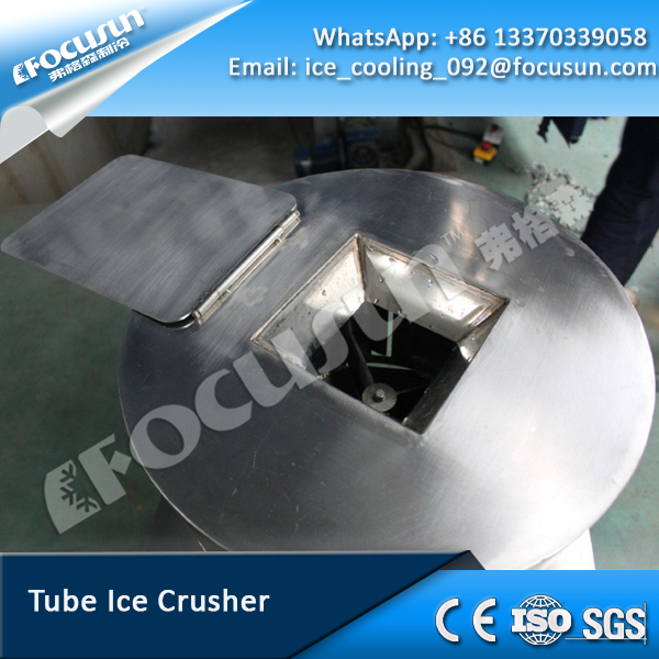 Focusun edible tube ice crusher,staninless steel 304 material