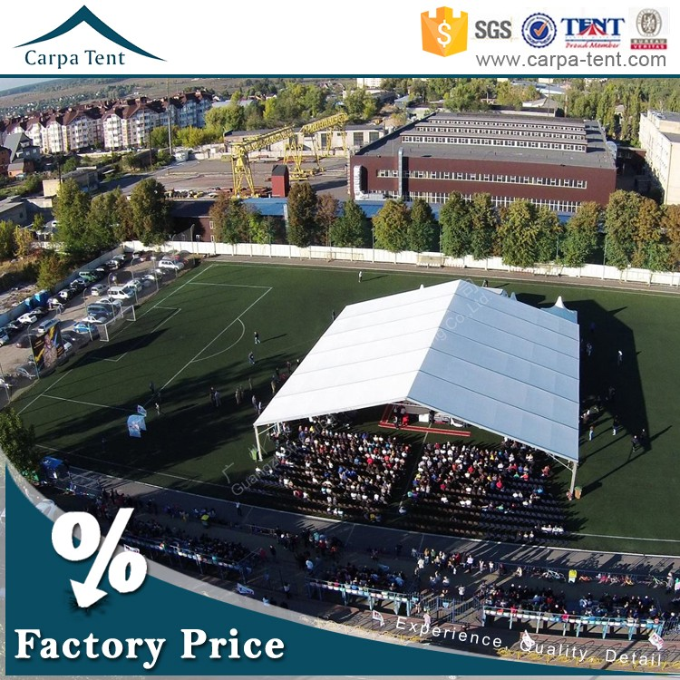 Large Aluminum Frame PVC Gray Portable Inflatable Warehouse Curved Tents / Garage Tents / Tunnel Tents / Sport Hall