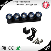 China Supplier High Quality Modified Car Light Single Row 10'' 50w Round Led Light Bar