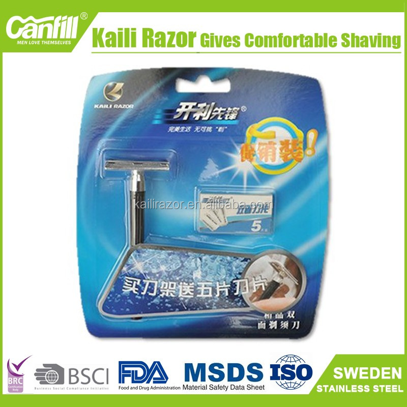Daily use double shaver razor for man