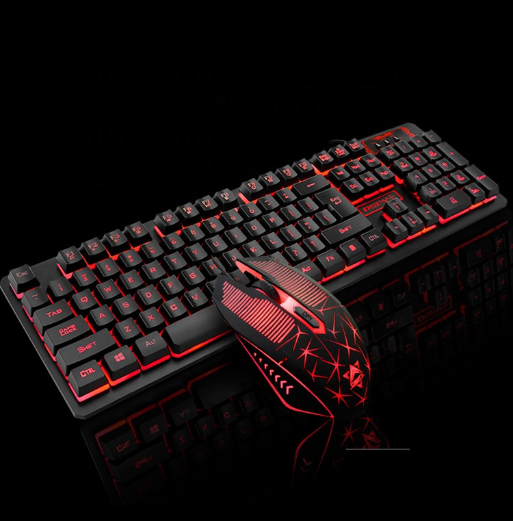 Wired Semi Mechanical Keyboard Gaming with Backlit and 2000DPI 4D Mouse, 19keys no Conflict, Waterproof Teclado Gamer K13a фото