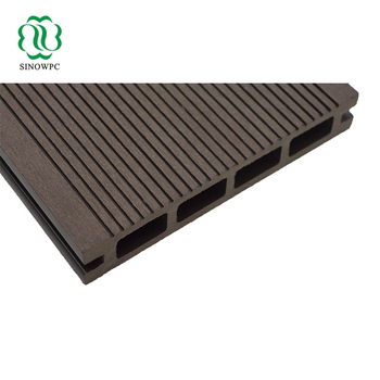 135x25 Pith Wood Grain Wpc Decking Plastic Hollow Composite Board Feel Like Natural