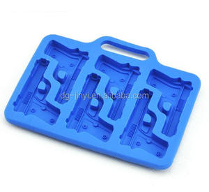 silicone ice mold custom gun shaped silicone molds gun cake pan mold