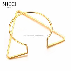 2017 new products personalized jewellery fashion 316L stainless steel jewelry gold cuff bracelet bangle