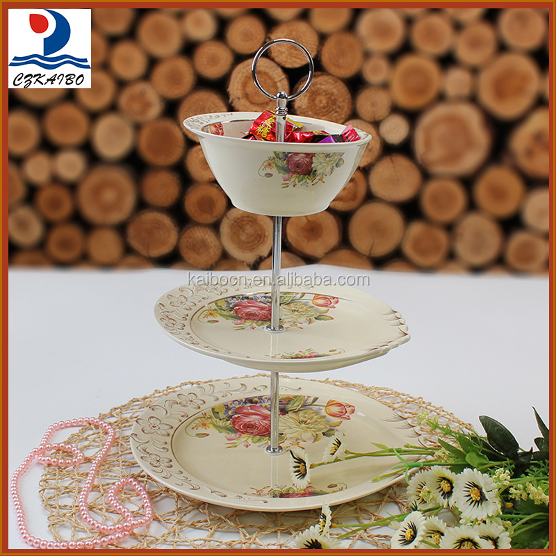 China wholesale price ceramic 3 layer bowl and plate