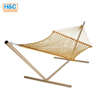 2019 New Design High Quality Hanging Cotton Rope Hammock With Stand