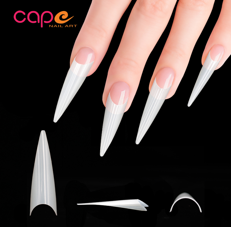 Halloween Festival Nail Art Straight Tips Triangle Stiletto Nail Tips