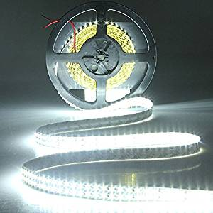 Ninth-City 5 Meters 1200 LEDs Double Row SMD 3528 Non-waterproof LED Strip Light White