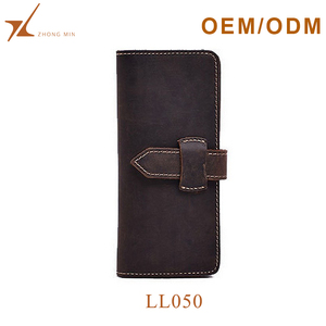 Mens slim secid purse hot selling genuine leather wallet