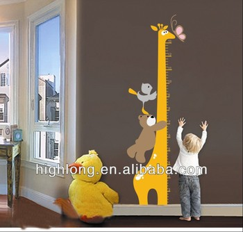 Cartoon Kids height growth sticker ; Height Measurement wall stickers