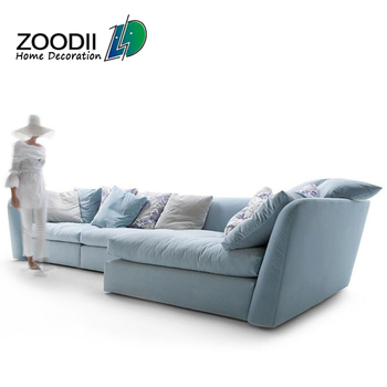 Lovely Modern Living Room Furniture Set Down Feather Sectional Lobby Sofa
