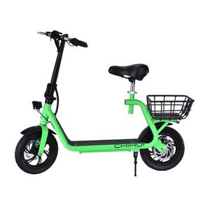350W electric scooter adult high-tensile steel frame material yellow city electric motorcycle 36v for sale