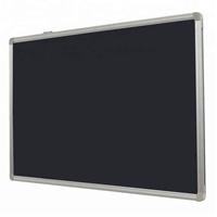 oem black magnetic chalk board with aluminum frame