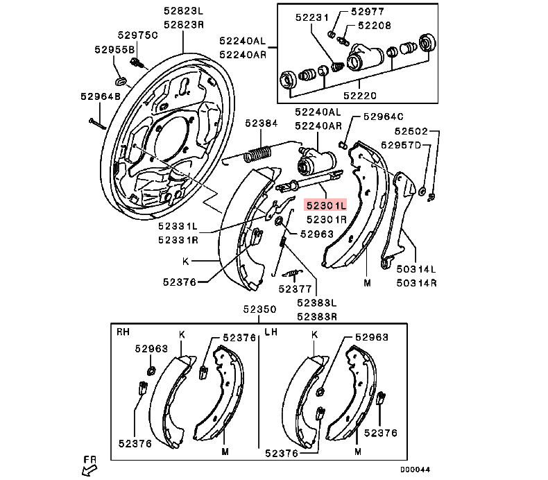 Lh Rr Brake Shoe Slack Adjuster For Mitsubishi Triton L200 Sport