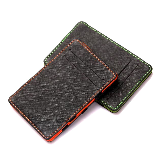 Wholesale slim PU leather magic wallet with card slots fashion magic wallet and card holder