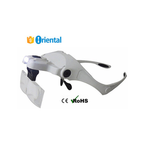Magnifying Glass 5 Lens Alibaba China Supplier,New Product Hands Free Bracket Headband Interchangeable Magnifier with 2 LED