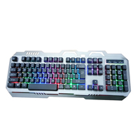 Good price desktop PC accessories USB wired LED Rainbow Color Backlight Cool illuminated laptop RGB gaming 104-keys Keyboard