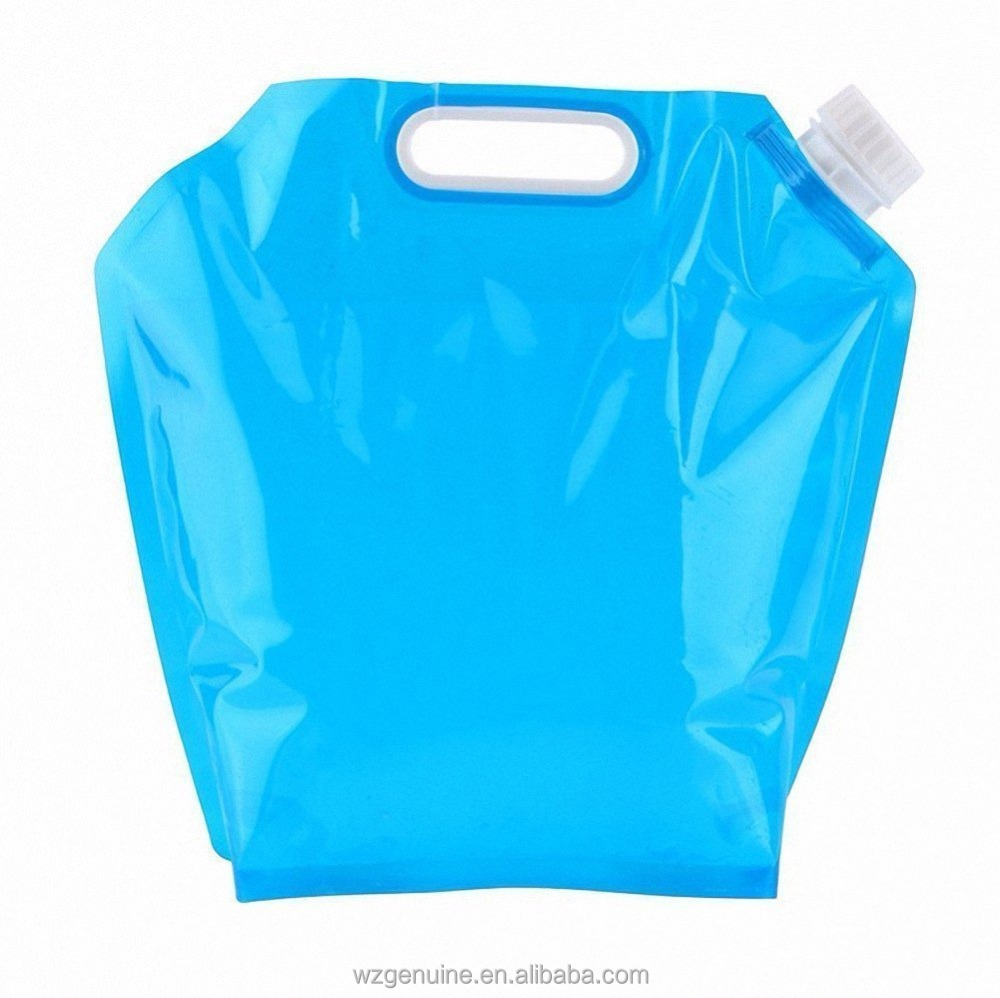 5L Plastic Folding Water Bag Collapsible Water Containers Portable Drinking Water Tank Storage for Camping Hiking Picnic BBQ