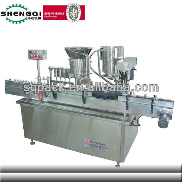 automatic liquid filling and cupping machine for iodine