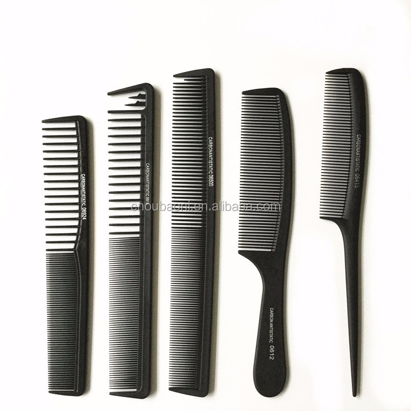 Professional salon use Anti-static comb Carbon fiber hair comb (6)